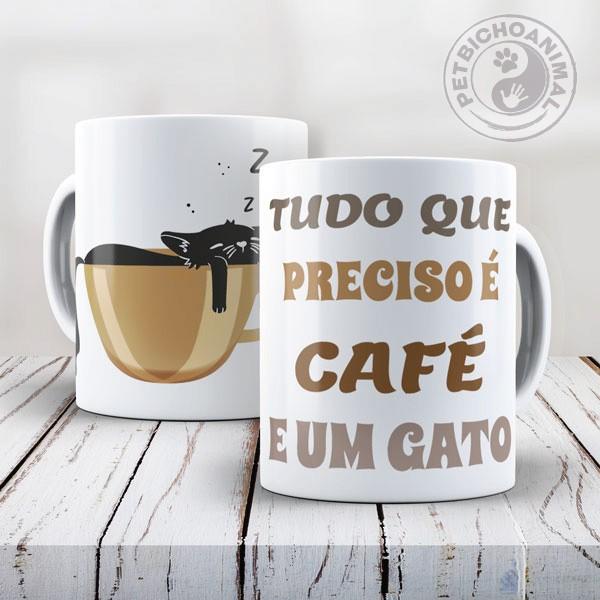 Caneca Café e Gato 1