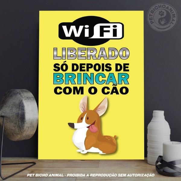 Quadro WiFi Liberado Cão 1
