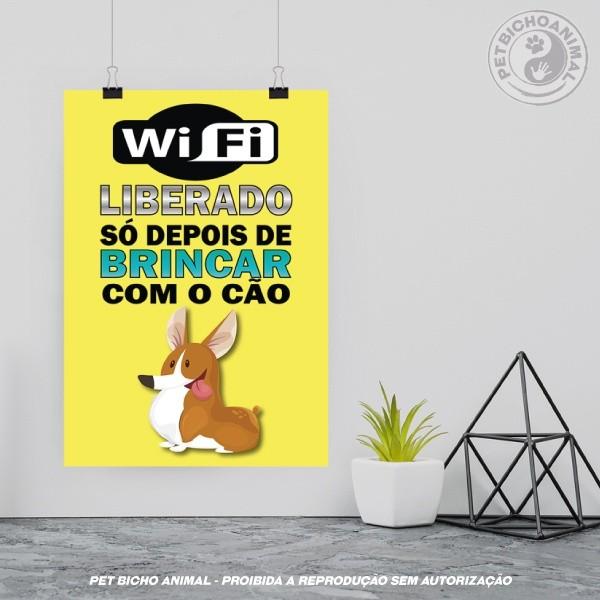 Quadro WiFi Liberado Cão 2