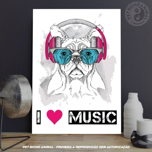 Quadro I Love Music 1