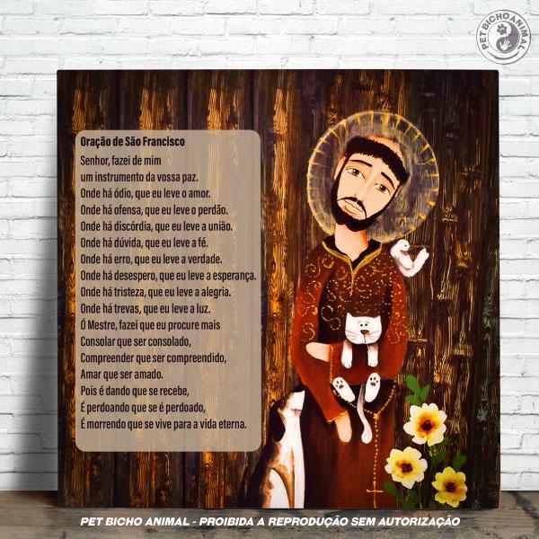 Azulejo Decorativo - Oração São Francisco de Assis 1