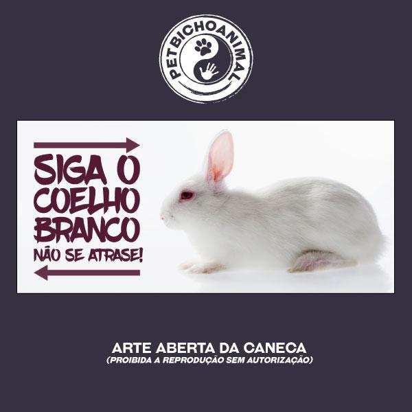 Caneca - Siga o Coelho Branco 2