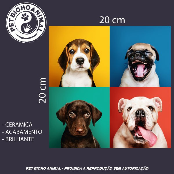 Azulejo Decorativo - Carinhas de Cães 2