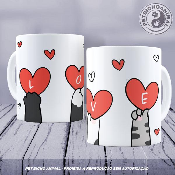 Caneca - Love Patinhas de Gato 1