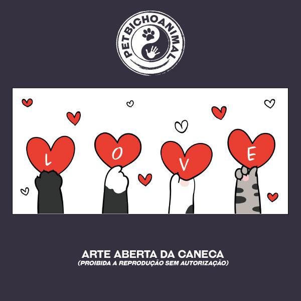Caneca - Love Patinhas de Gato 3