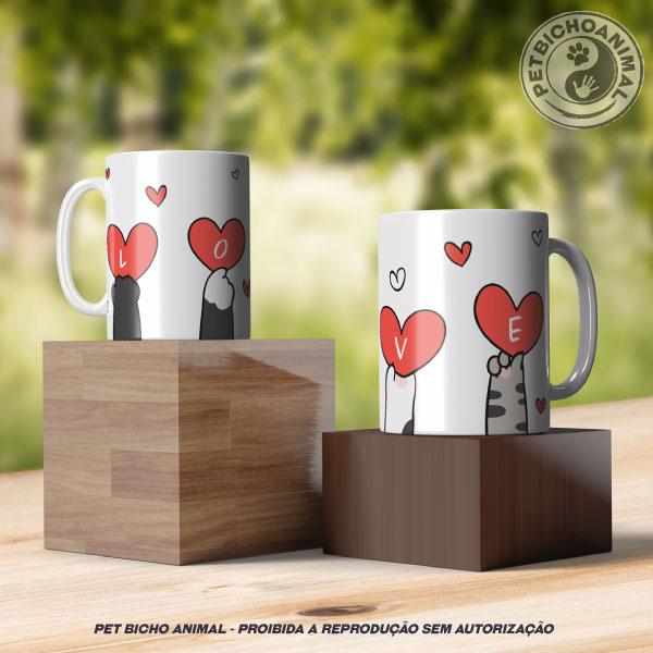 Caneca - Love Patinhas de Gato 2