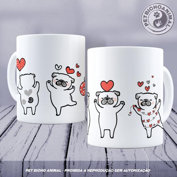 Caneca - Pugs Apaixonados 1