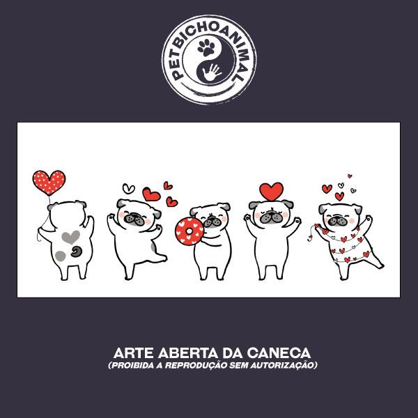 Caneca - Pugs Apaixonados 3