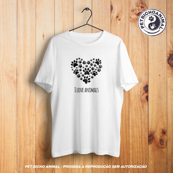 Camiseta - I Love Animals 1