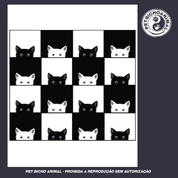 Camiseta - Xadrez de Gatos 3