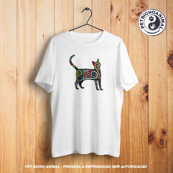 Camiseta - Gato Psicodélico 1