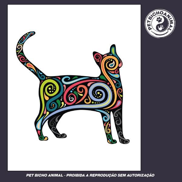 Camiseta - Gato Psicodélico 3