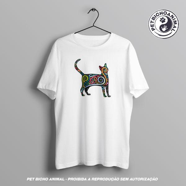 Camiseta - Gato Psicodélico 2