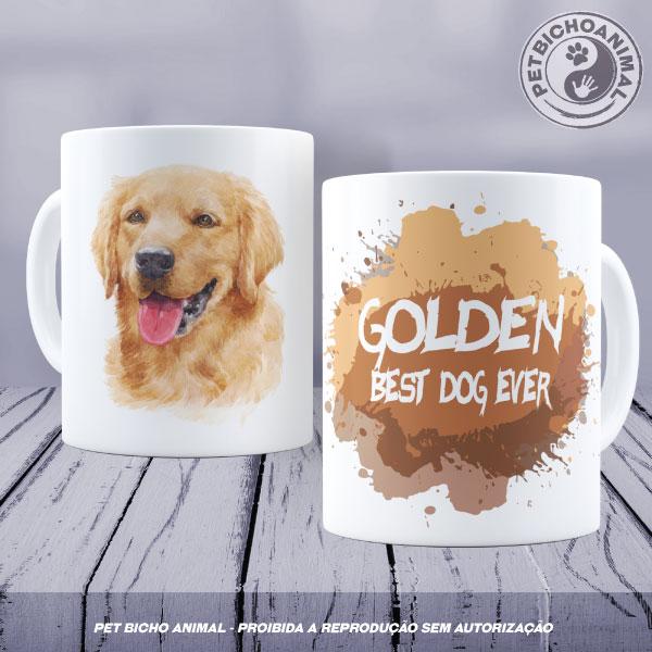 Caneca Coleção Best Dog Ever - Raça Golden 1