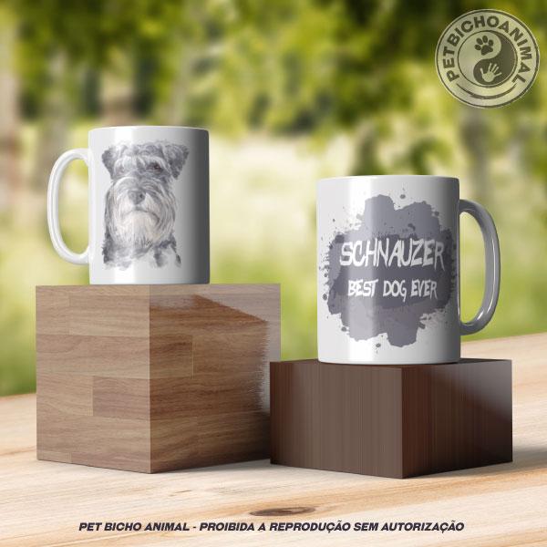 Caneca Coleção Best Dog Ever - Raça Schnauzer 2