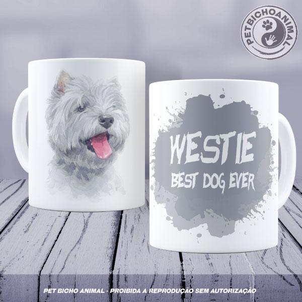 Caneca Coleção Best Dog Ever - Raça Westie 1