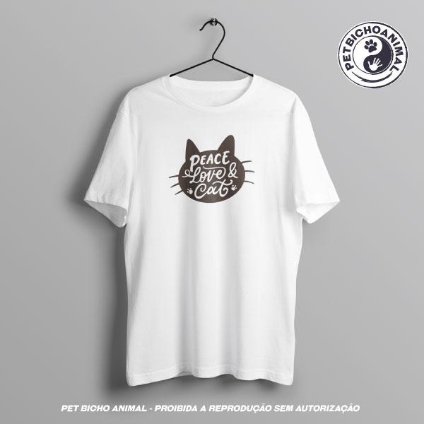 Camiseta - Peace, Love & Cat 3