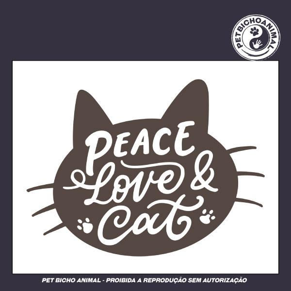 Camiseta - Peace, Love & Cat 2