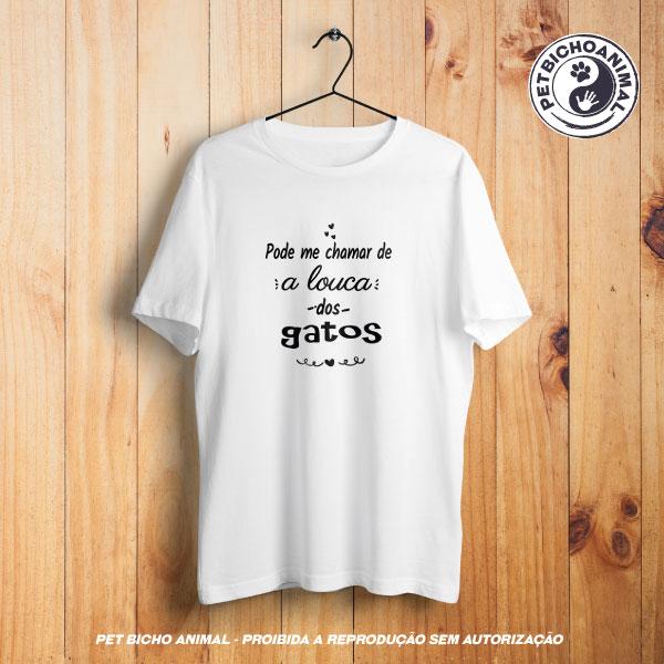 Camiseta - A Louca dos Gatos 1