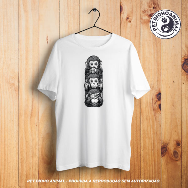 Camiseta - Os 3 Macacos Sábios 1
