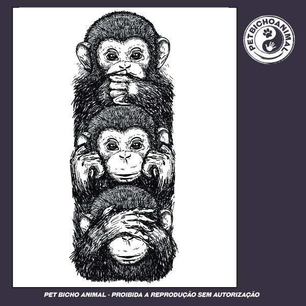Camiseta - Os 3 Macacos Sábios 2
