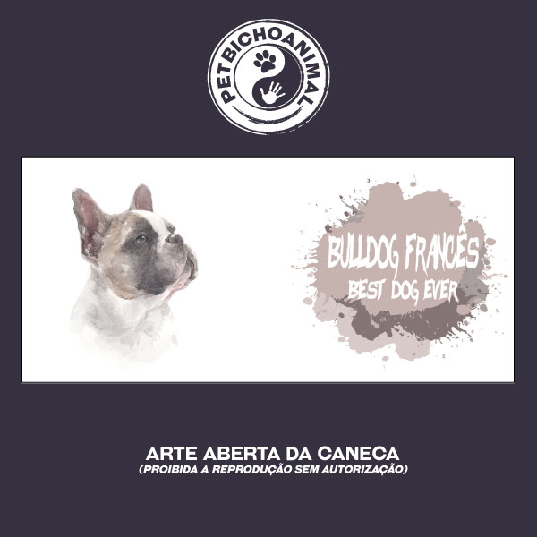 Caneca Coleção Best Dog Ever - Raça Bulldog Francês 2