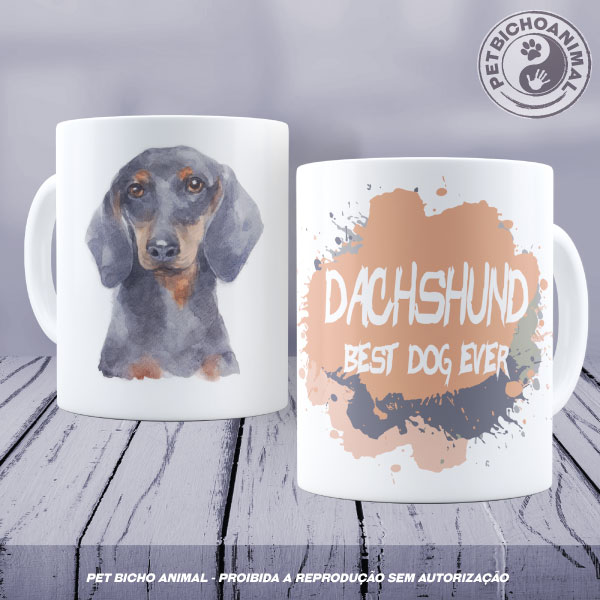 Caneca Coleção Best Dog Ever - Raça Dachshund 1