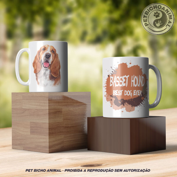 Caneca Coleção Best Dog Ever - Raça Basset Hound 3