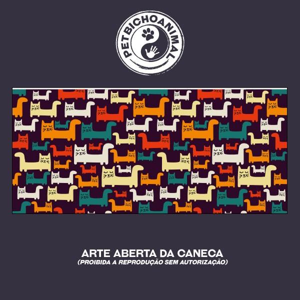 Caneca Gatos Coloridos 3