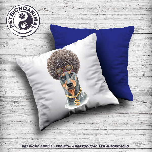 Almofada Coleção Hipsters Dogs - Dobermann 1