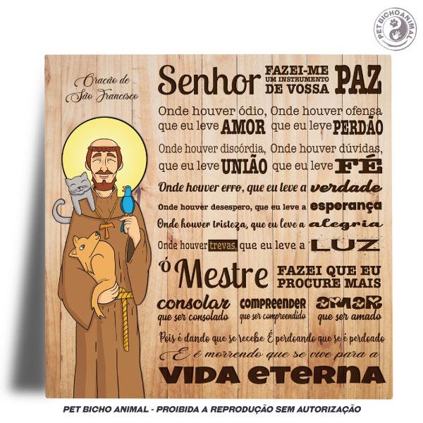 Azulejo Decorativo - Oração São Francisco de Assis -  Edição Especial 2