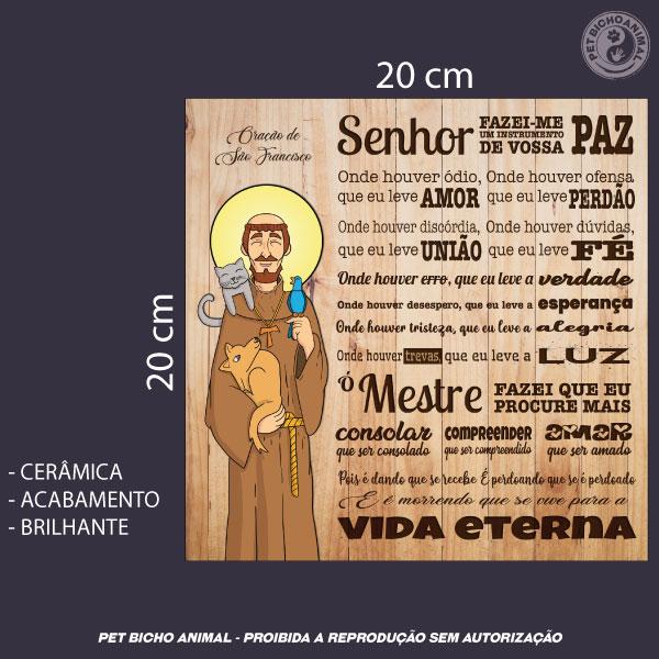 Azulejo Decorativo - Oração São Francisco de Assis -  Edição Especial 3