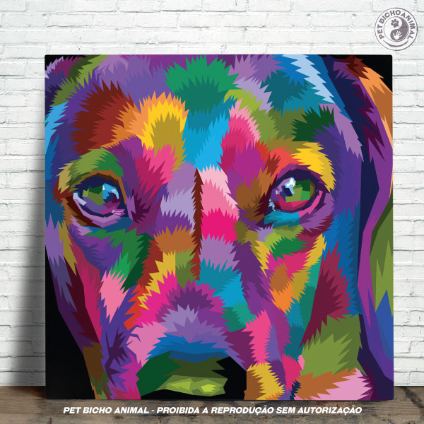 Azulejo Decorativo - Cachorro em Cores 1