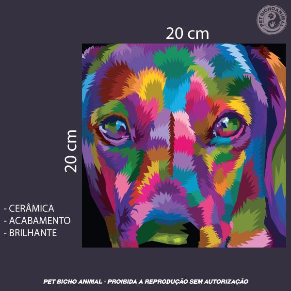 Azulejo Decorativo - Cachorro em Cores 2