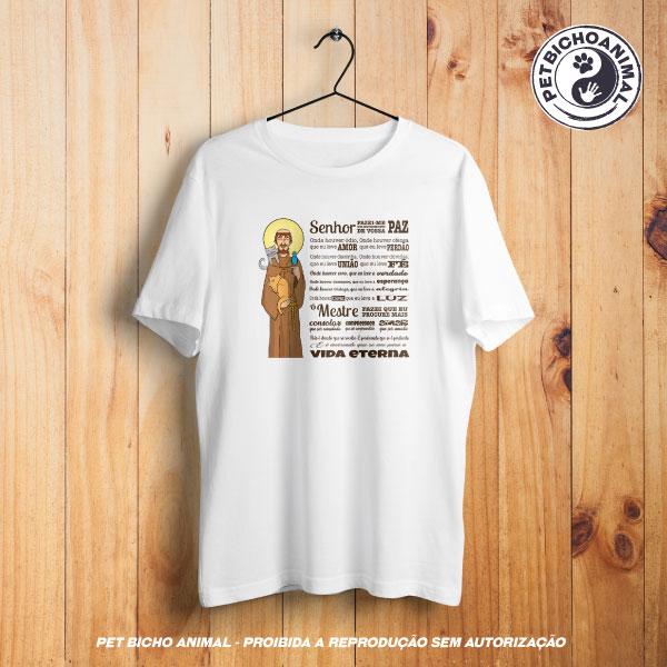 Camiseta -  Oração São Francisco de Assis - Edição Especial 1
