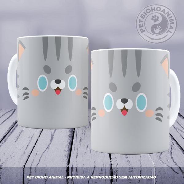 Caneca Coleção Kids - Cara de Gato 2 1