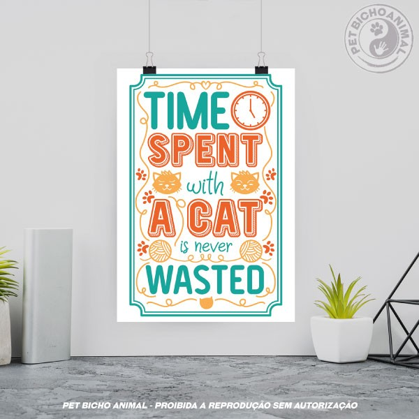 Quadro Time Spent with Cats is Never Wasted 3