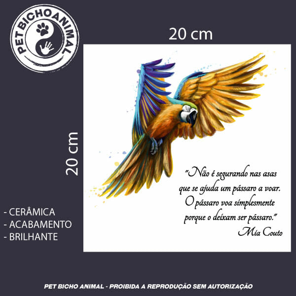 Azulejo Decorativo - Arara Azul 2