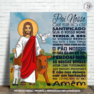 Azulejo Decorativo - Jesus e a Oração Pai Nosso 1