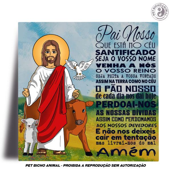 Azulejo Decorativo - Jesus e a Oração Pai Nosso 2