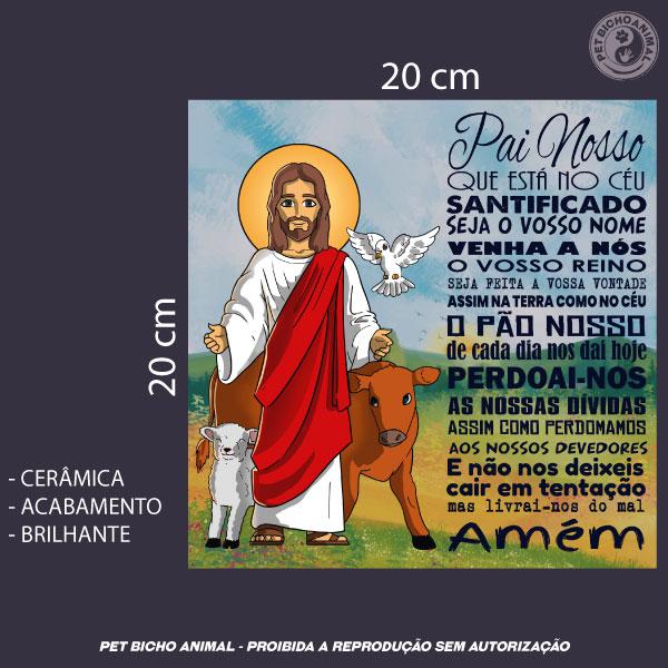 Azulejo Decorativo - Jesus e a Oração Pai Nosso 3