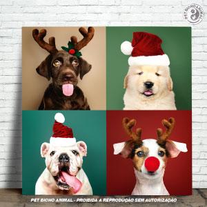 Azulejo Decorativo - Cãezinhos de Natal 1