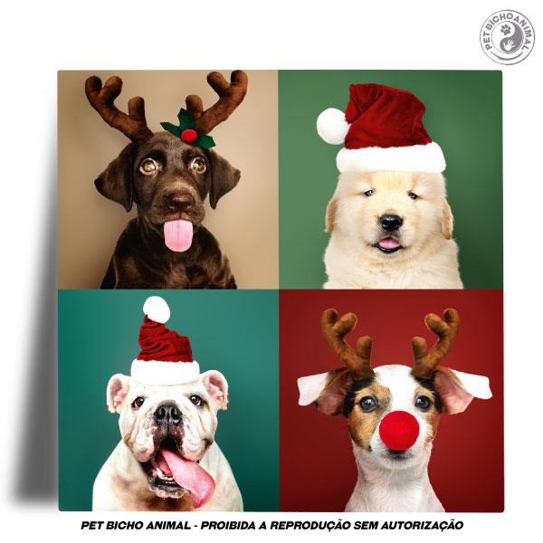 Azulejo Decorativo - Cãezinhos de Natal 2