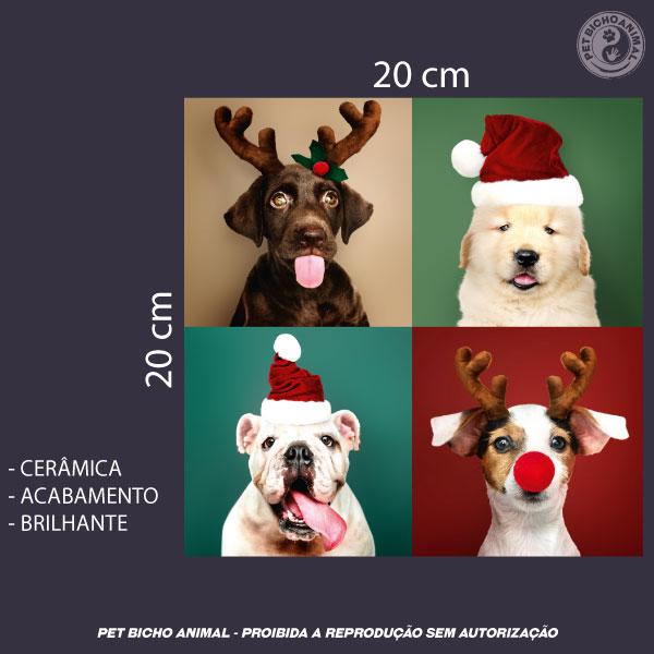 Azulejo Decorativo - Cãezinhos de Natal 3