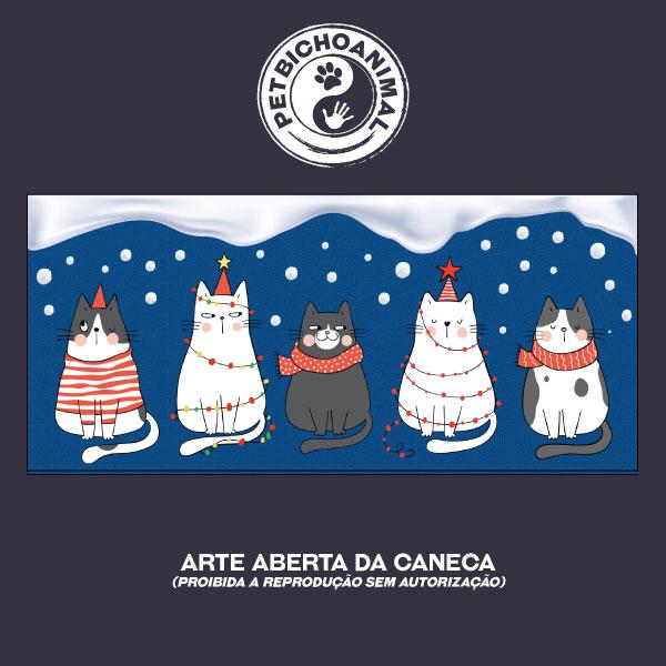 Caneca - Gatinhos de Natal 3