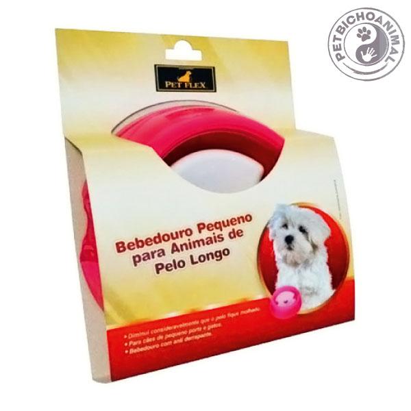 Bebedouro Pet Flex para Animais de Pelo Longo Tamanho P Rosa 2