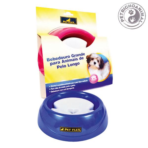 Bebedouro Pet Flex para Animais de Pelo Longo Tamanho G Azul 3