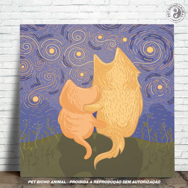 Azulejo Decorativo - Amizade em uma Noite Estrelada 1