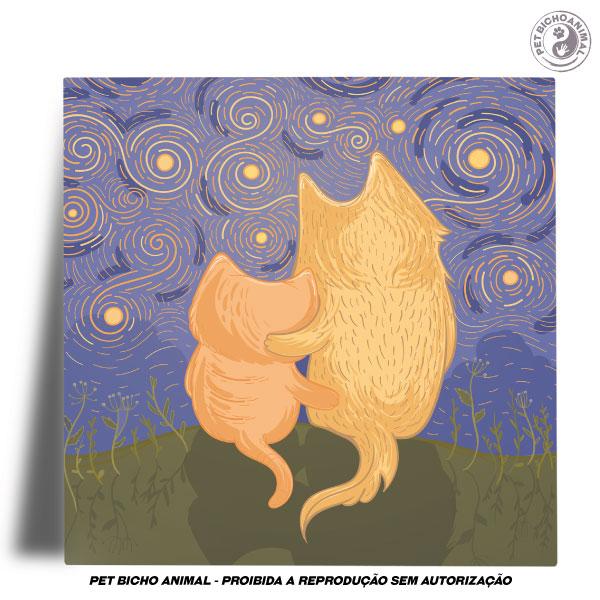 Azulejo Decorativo - Amizade em uma Noite Estrelada 2