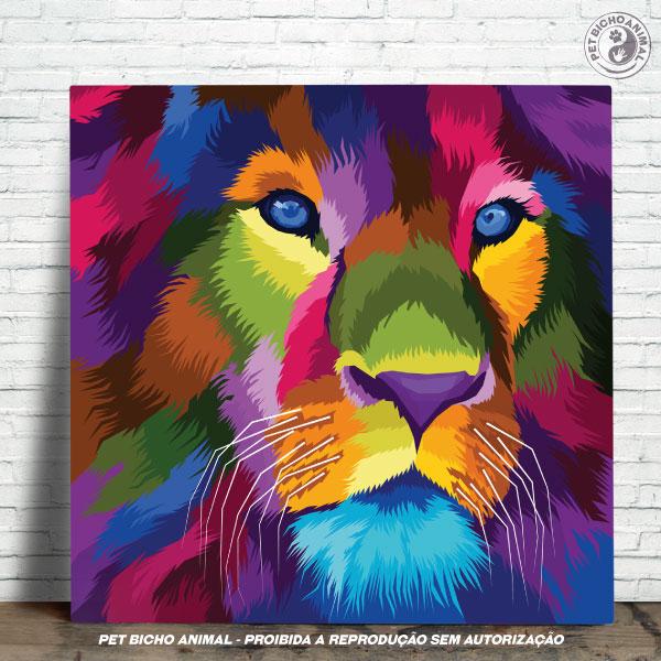 Azulejo Decorativo - Leão em Cores 1